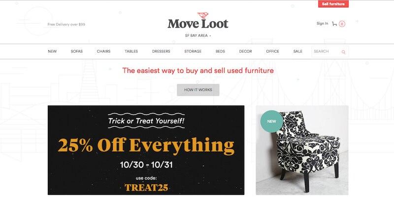 中古家具のマーケットプレイス『Move Loot』
