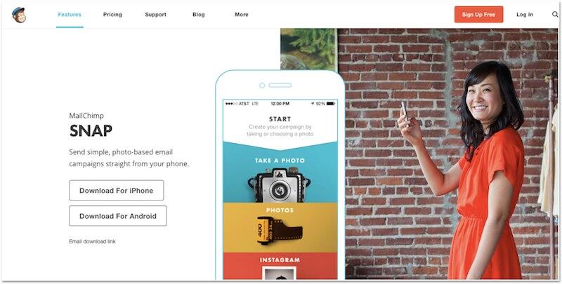 スマホだけでHTMLメール配信ができるアプリ「MailChimp Snap」