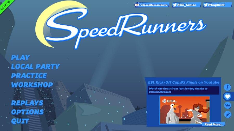 誰よりも速く走り抜け!最大4人の横スクロール対戦アクション「Speed Runners」