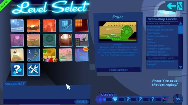 コースは複数用意されており、Steam Workshopで他のユーザーが作ったステージもプレイ可能