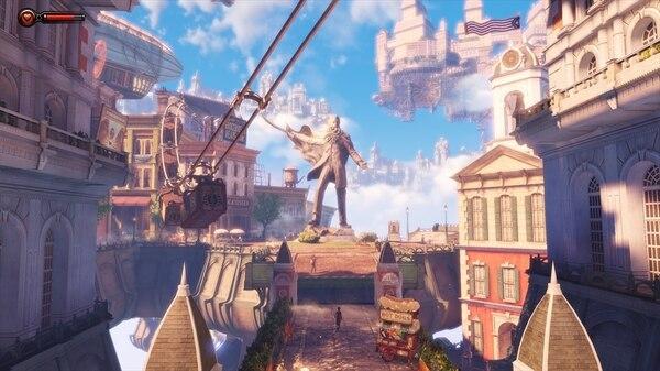 本作の舞台となるコロンビアは空中に浮かぶ巨大な都市
