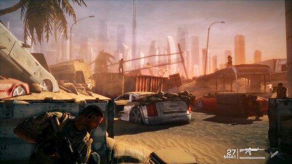 砂に埋もれてしまったドバイの都市が舞台だ
