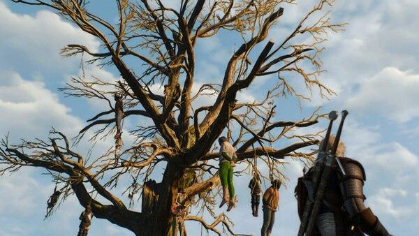 ヴェレン名物・首吊りの木。戦火で荒廃したこの地方は道端は死体だらけで、精神的にクるものがあります……