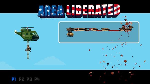 ステージをクリアすると、味方のヘリが迎えに来る。敵の拠点が地獄の業火で燃え盛るなか、倒した敵がズラーっと表示されるハリウッド映画+アーケードゲーム感覚!