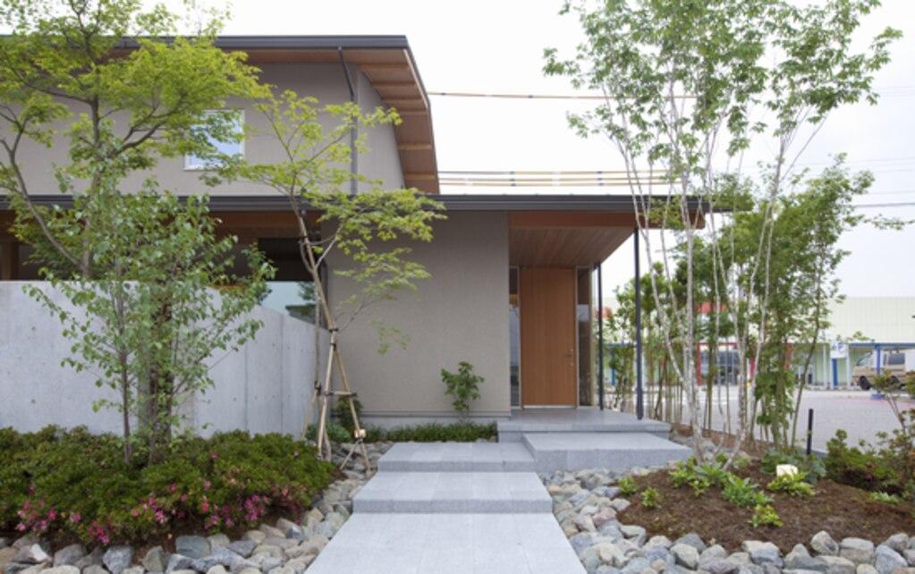 「建物と一体に計画する外構デザイン」イメージ図