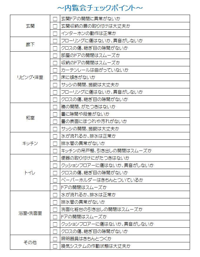 内覧会のチェックポイント