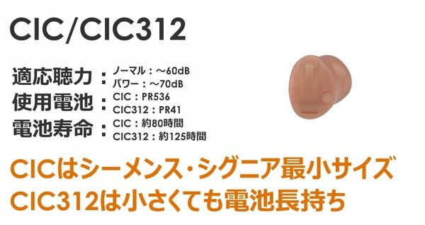シーメンス・シグニア補聴器 インティス2 耳あな型CIC