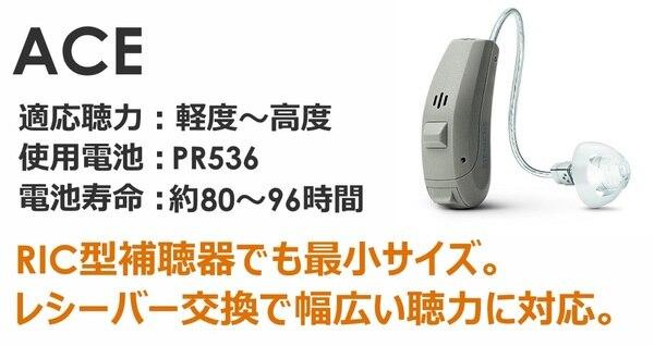 シーメンス・シグニア補聴器 プライマックス1 RICタイプ 最小サイズ エース