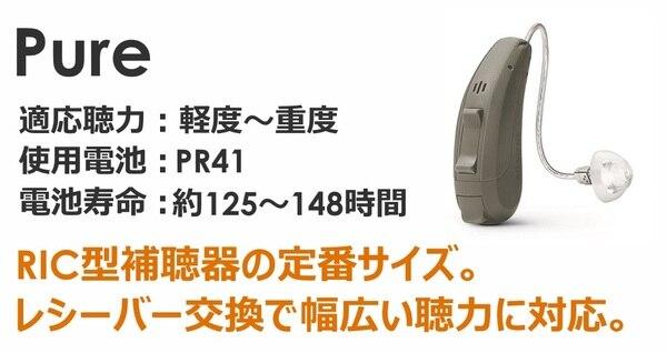 シーメンス・シグニア補聴器 プライマックス1 RICタイプ ピュア