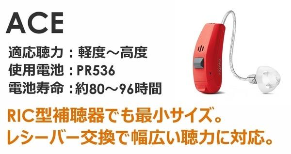 シーメンス・シグニア補聴器 プライマックス5 RICタイプ 最小サイズ エース