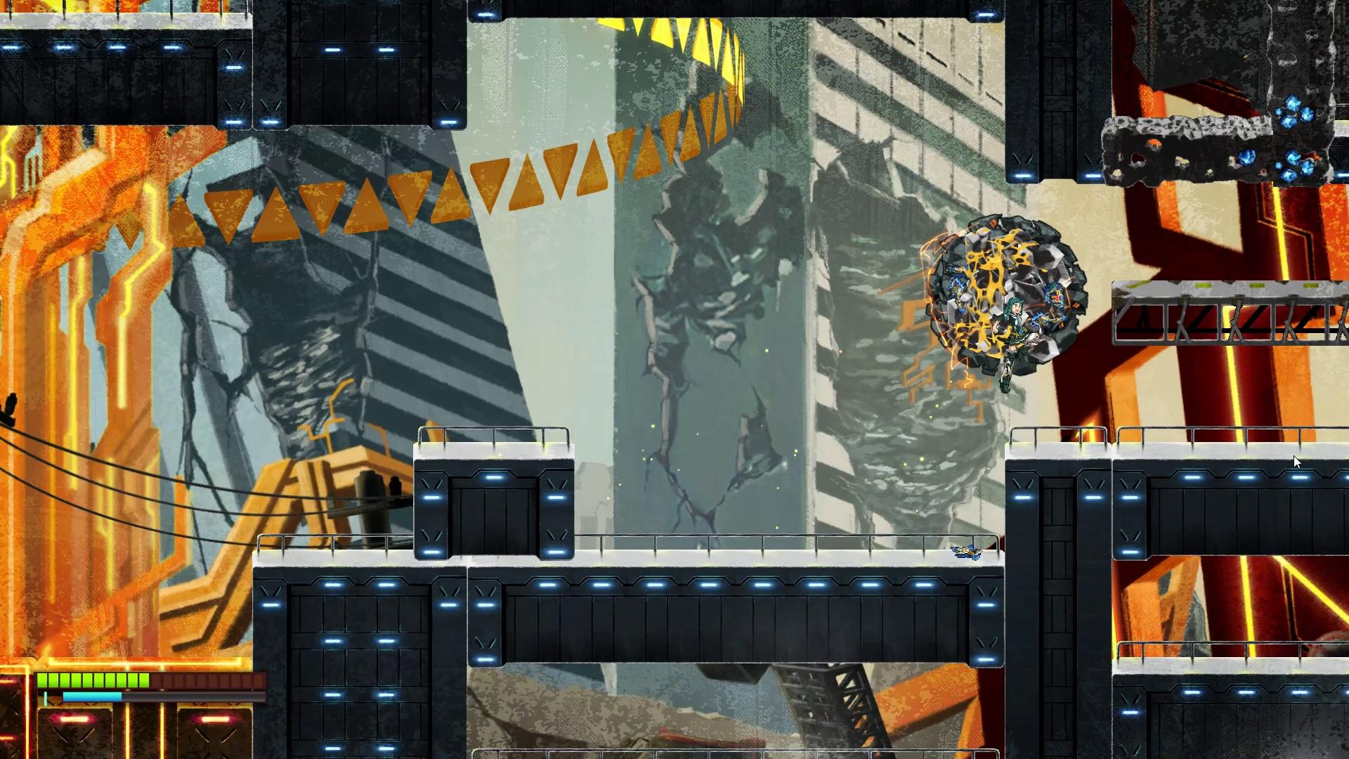 主人公の烈景寺レイカは改造人間である。ロボットの血液である液状ナノマシンが付いたガレキや鉄くずを集めて操作する「リコール」能力を持っている