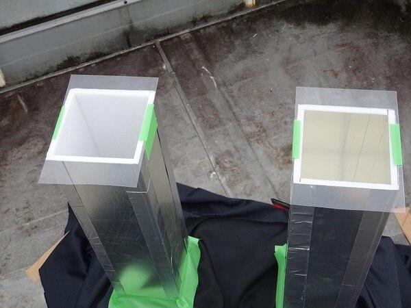 光ダクトの採光面積用模型実験時のダクト