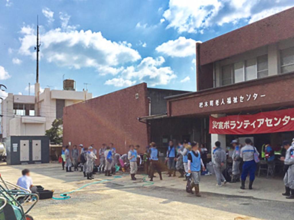 新世代移動式水洗トイレ導入事例 災害ボランティアセンター