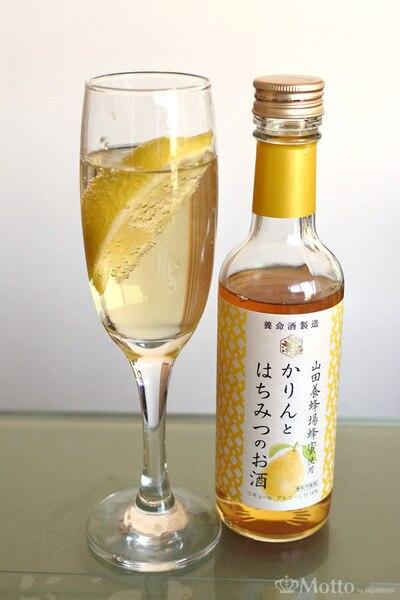 かりんとはちみつのお酒の、レモンと炭酸割り