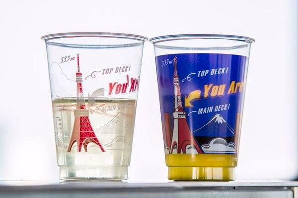 ドリンクカップの東京タワーのデザイン
