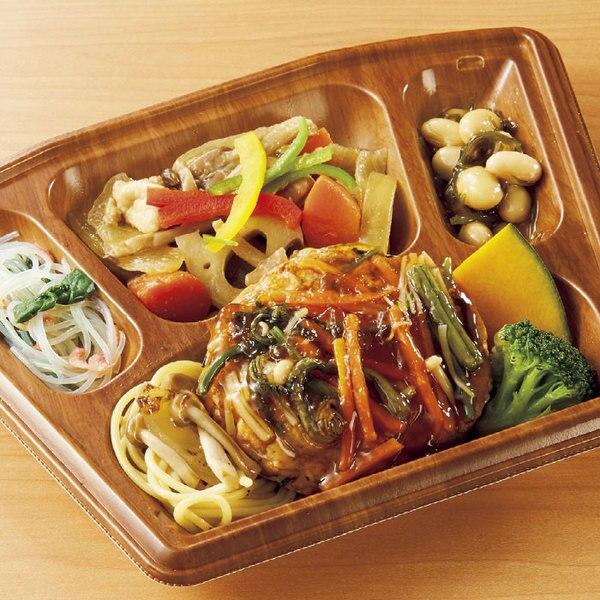 【3月28日(水)】1食で野菜120gが摂れるお惣菜(豆腐ハンバーグ山菜あんかけ