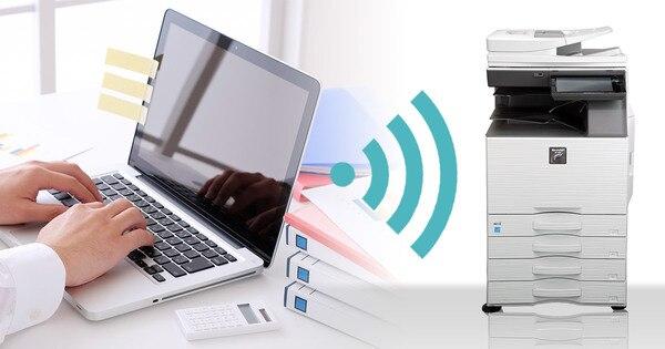 コピー機とパソコンの無線LAN接続