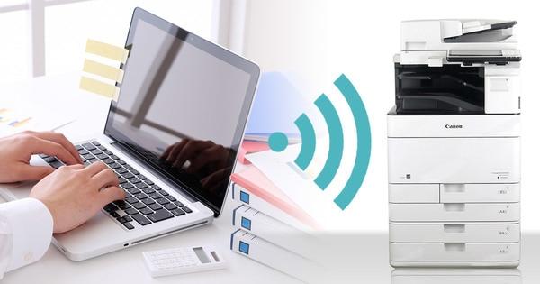 iR-ADV C5535Fは、無線LAN標準対応
