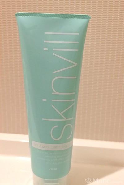 skinvill(スキンビル)「ホット&クールクレンジングジェル」は、洗面台にたてて置ける