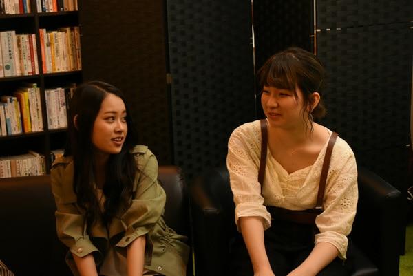 写真左は平成チームEさん、右は平成チームFさん