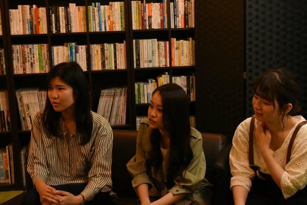 平成チーム(左からDさん、Eさん、Fさん)