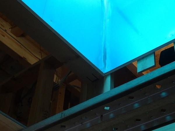 光ダクトモデルハウスの光ダクト入隅