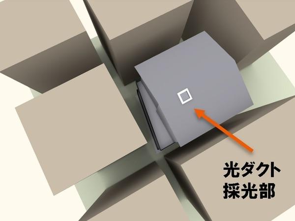 住宅密集地における光ダクト設置検証 周辺状況