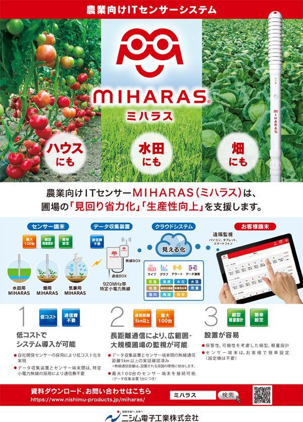 農業向けITセンサー「MIHARAS」