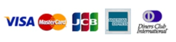 VISA Mastercard JCB American Express Dinere's Club International