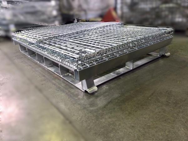 大型メッシュパレット W1500 四方差しフォークガイド⑥
