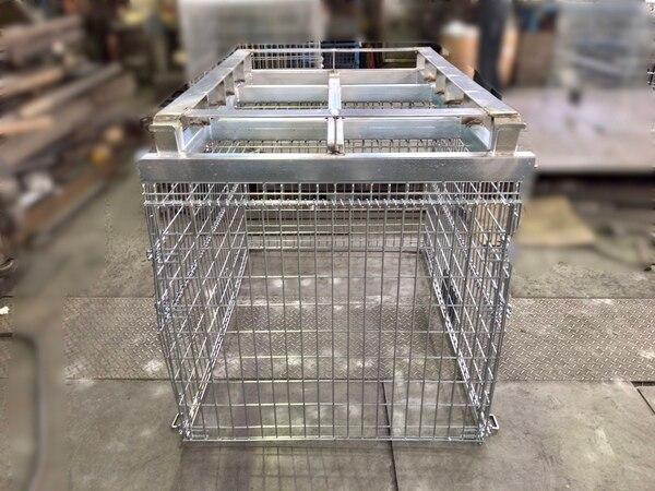 大型メッシュパレット W1500 四方差しフォークガイド②