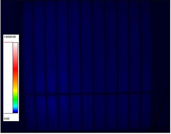 光ダクト導入住宅 輝度測定 夏期曇天時12:00 西窓