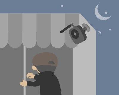 防犯カメラとして屋外にも設置可能