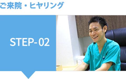 ご来院・ヒアリング STEP-02