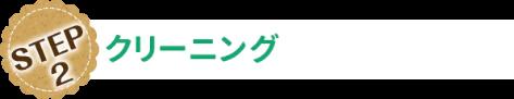 STEP-02 クリーニング